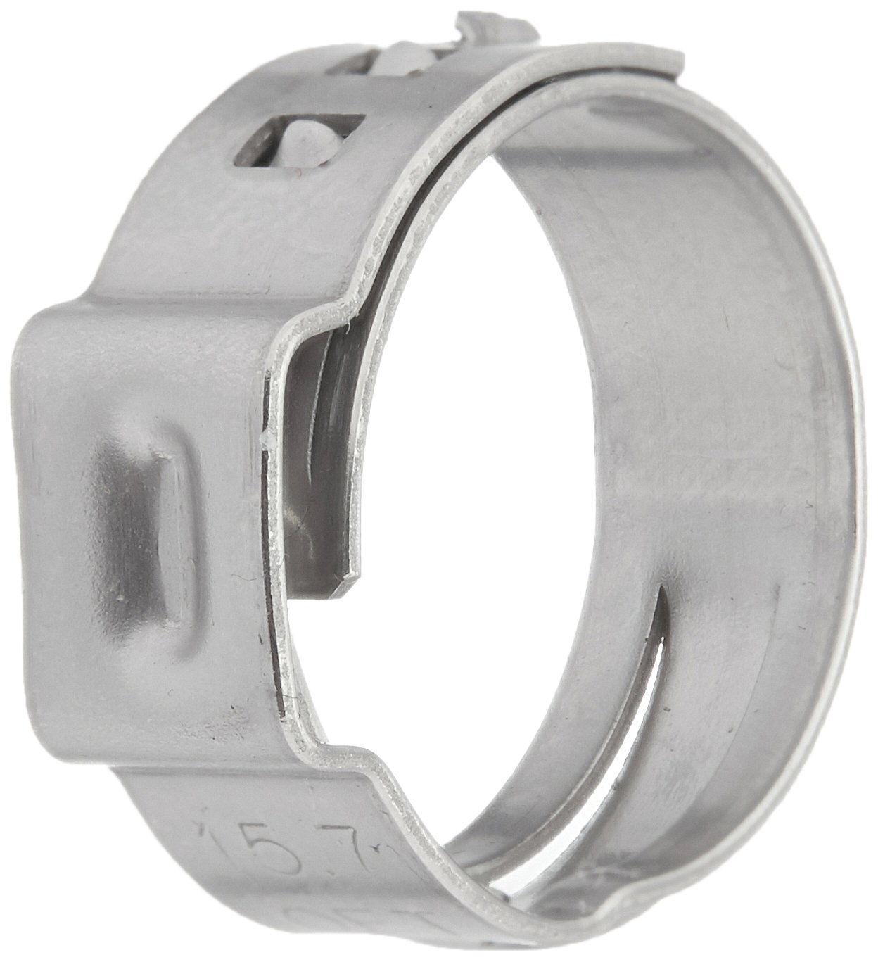 Clamp ID Range 40.8 mm - 44 mm Open One Ear Oetiker 16703640 Stepless Ear Clamp Closed Pack of 5