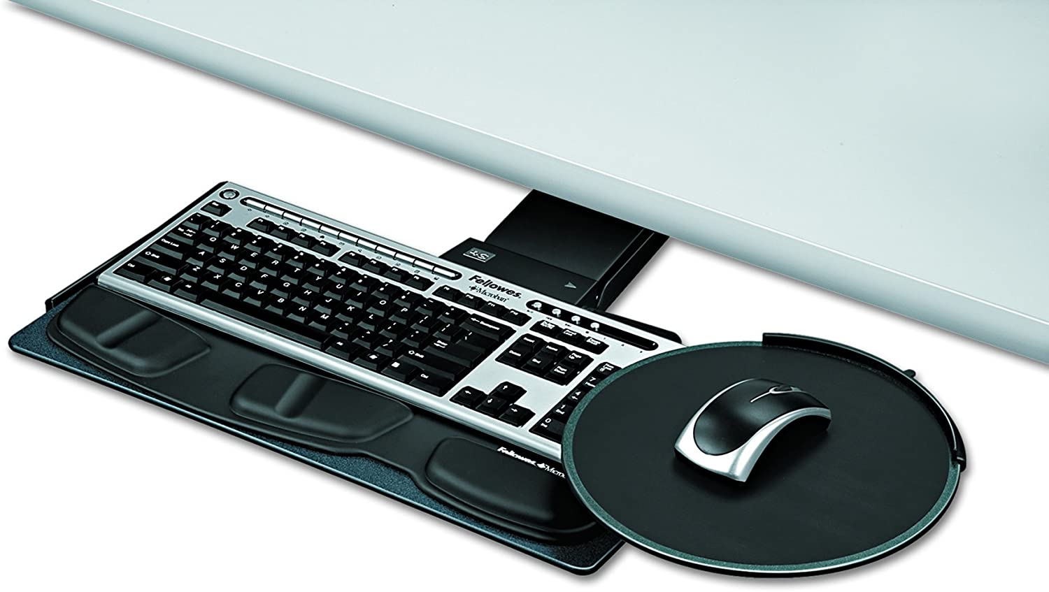 Fellowes Professional Series Sit/Stand Keyboard Tray, Black (8029801)