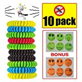 Mosquito Repellent Bracelet for Adults and Baby Meiso All Natural Deet Free and Waterproof Bands Insect Protection up to 300 Hours Bonus Repellent Patches