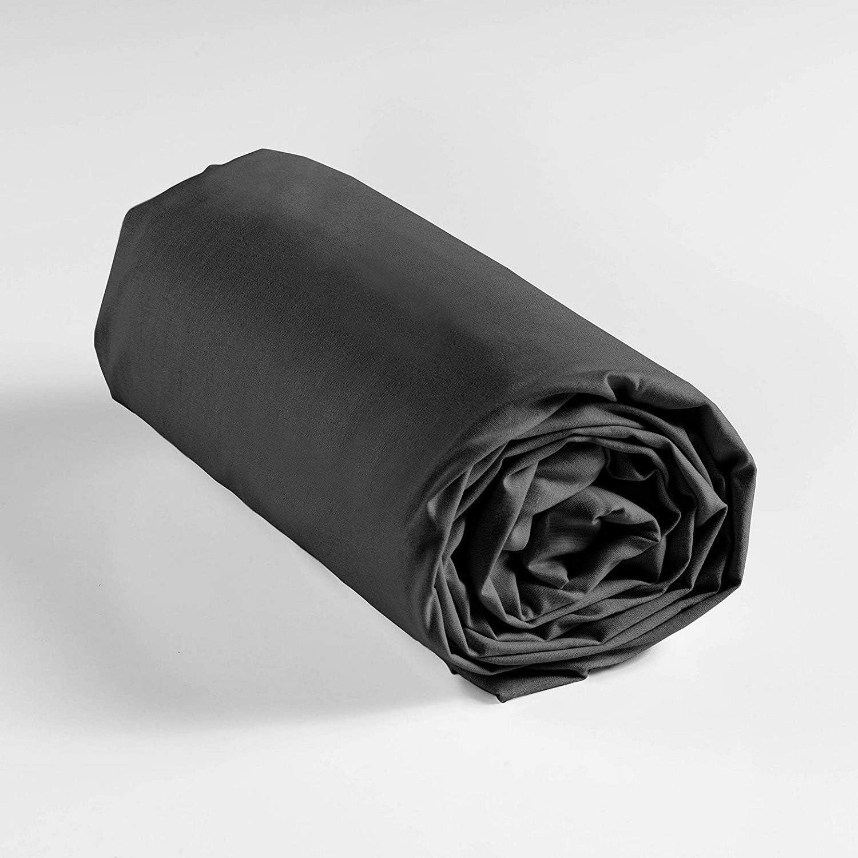 Lot de 3 Draps Housse Percale 100/% Coton 80Fils cm/² par Lot de 3 140X190 cm Bonnet 25 cm Couleur Bordeaux