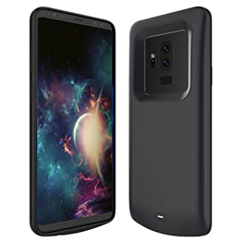 new styles dcec7 bcf45 FugouSell Samsung Galaxy S9 Plus Battery Case, 5200mAh Rechargeable  Extended Backup Charger Case External Juice Pack Portable Power Bank  Protective ...