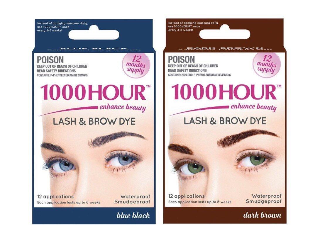 Amazon Combo Pack 1000 Hour Eyelash Brow Dye Tint Kit