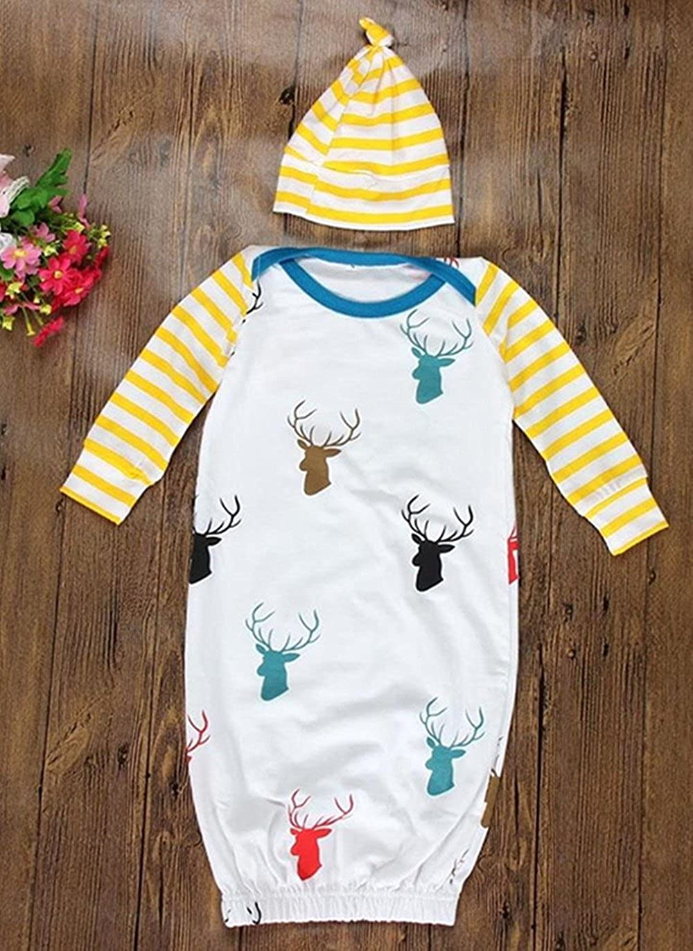 Amazon.com: Bebé recién nacido venir al hogar traje a rayas ...