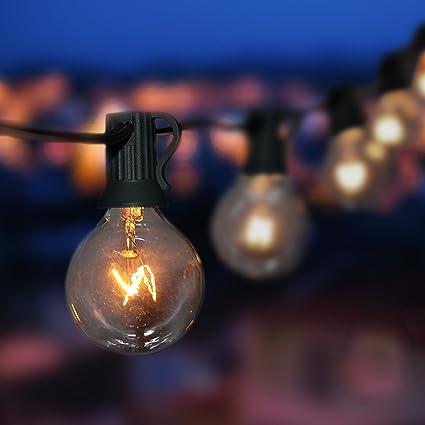 Goothy Globe String Lights With G40 Bulbs (25ft.) UL Listed Backyard Patio  Lights