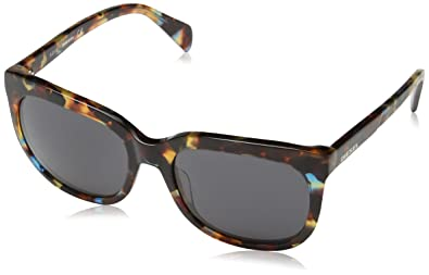 6874ed4ea7 Image Unavailable. Image not available for. Color  Diesel Eyewear Womens  Square Sunglasses (Tortoise)