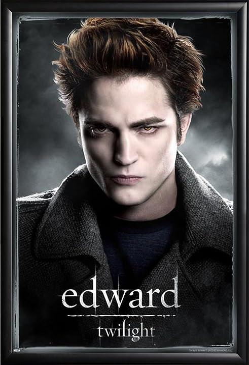 Twilight Edward 24x36 Dry Mount Poster Matte Back Wood Framed