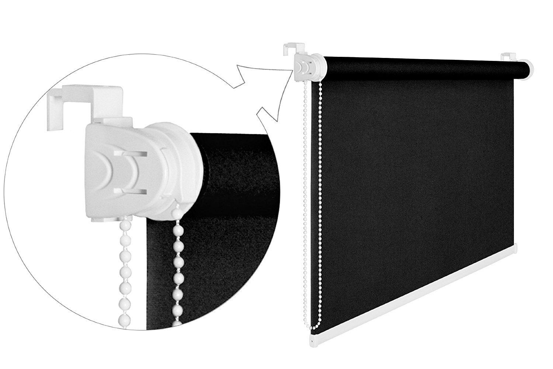 Store enrouleur occultant /à 50/% Noir 70/cm de largeur 175/cm Store enrouleur de protection Cordon /à anti-regards Store enrouleur de 70/x 175