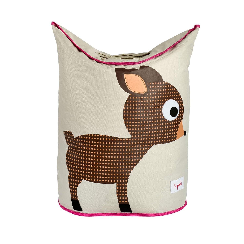 3 Sprouts Baby Laundry Hamper Storage Basket Organizer Bin for Nursery Clothes, Deer