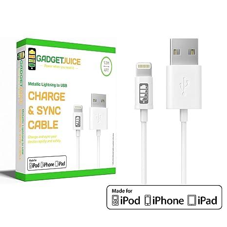 Gadget Juice MFI Certificado Lighting a USB Cargador de ...