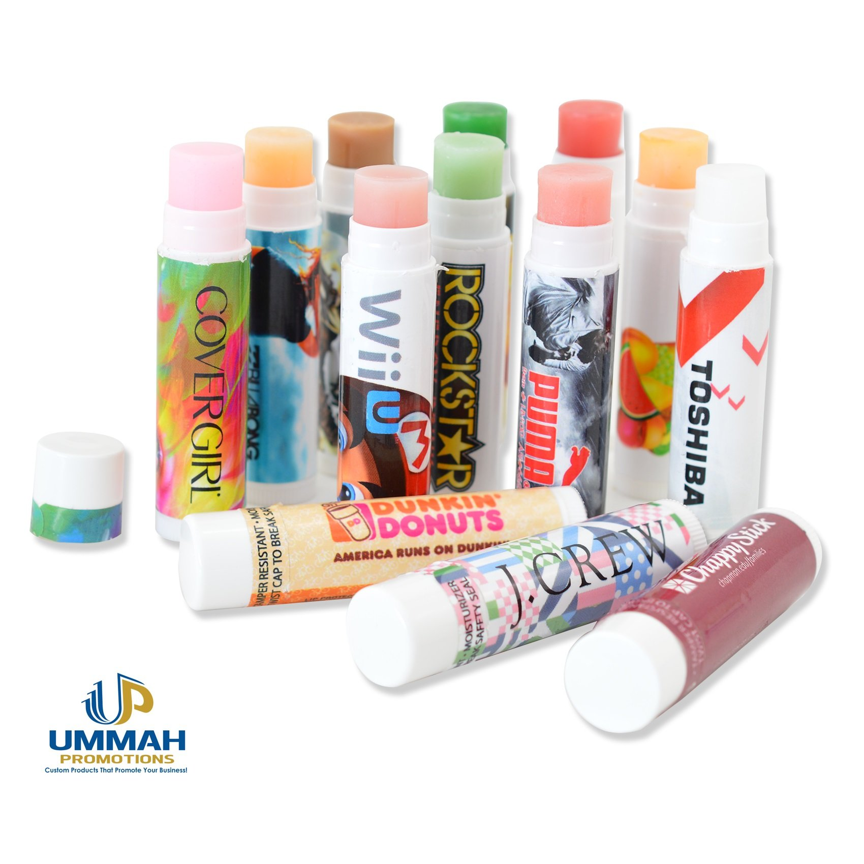 250 Personalized USA Made Lip Balm with Your Logo or Message