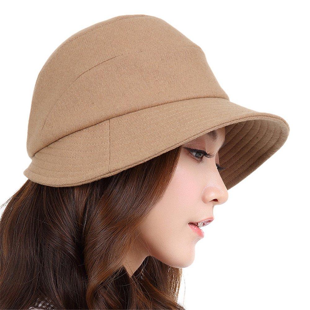 Gorro de chica femenina todos-match otoño otoño e invierno sombrilla ocio pescador hat sombrero Cuen...