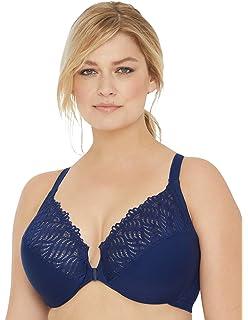 67e232a72cfcd Glamorise Women s Full Figure Front Close Lace T-Back Wonderwire Bra  1246