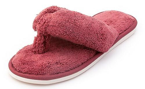 Amazon.com | Comfort Slippers Indoor Flip Flop Thong Spa Slip on ...