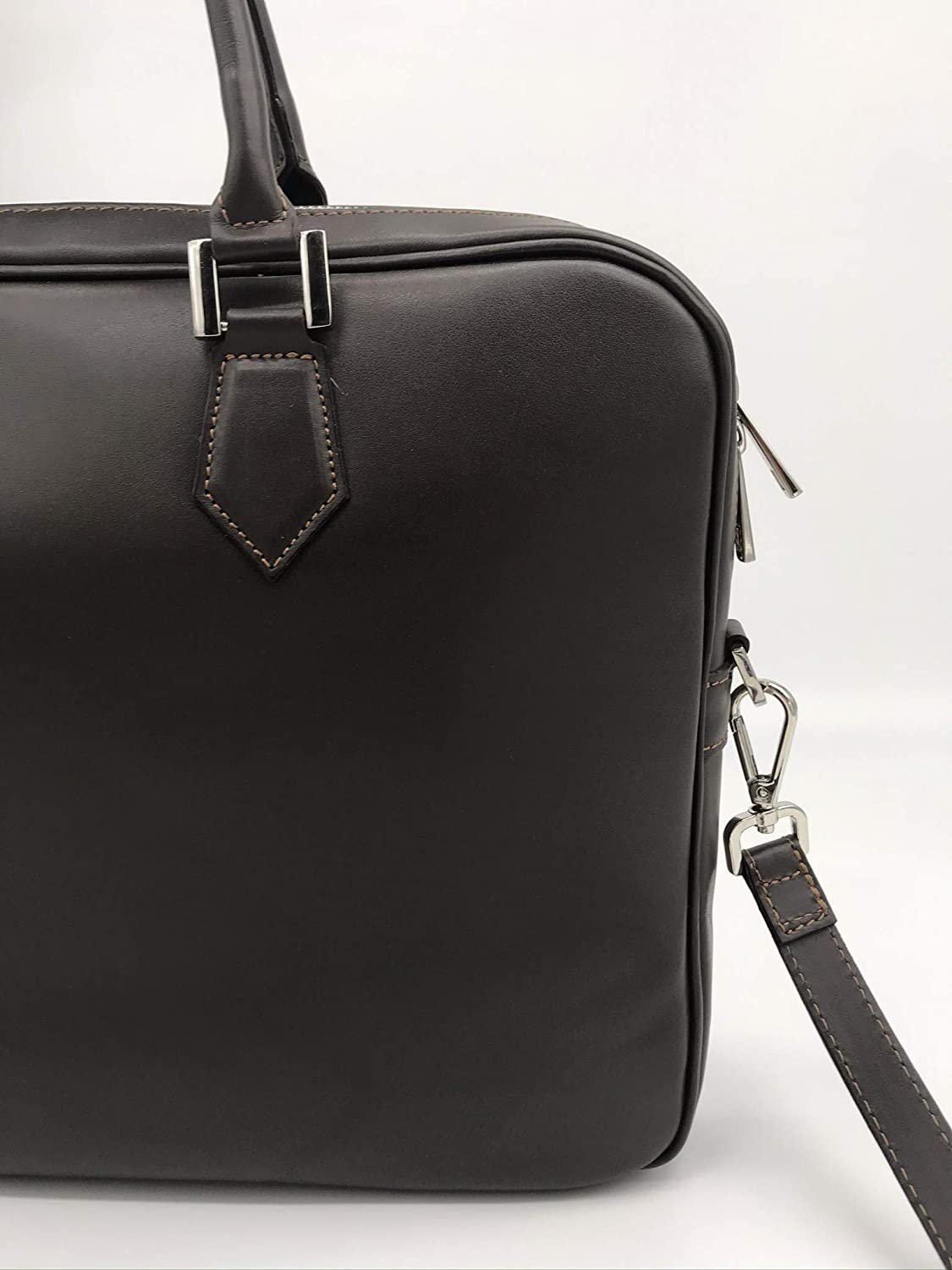 Francesco Lionetti - Borsa Business Messenger in Pelle - Made in Italy (Cuoio Aranciato) Nero Saffiano