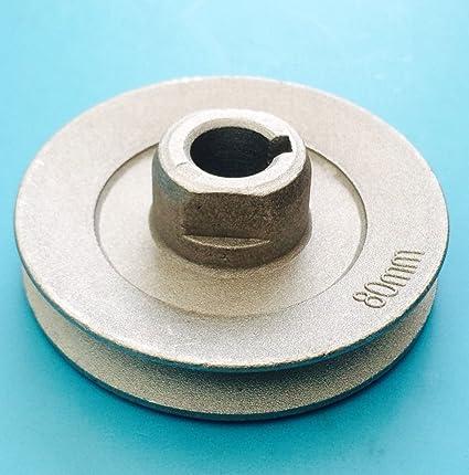 Máquina de coser 80 mm Polea 15 mm Eje