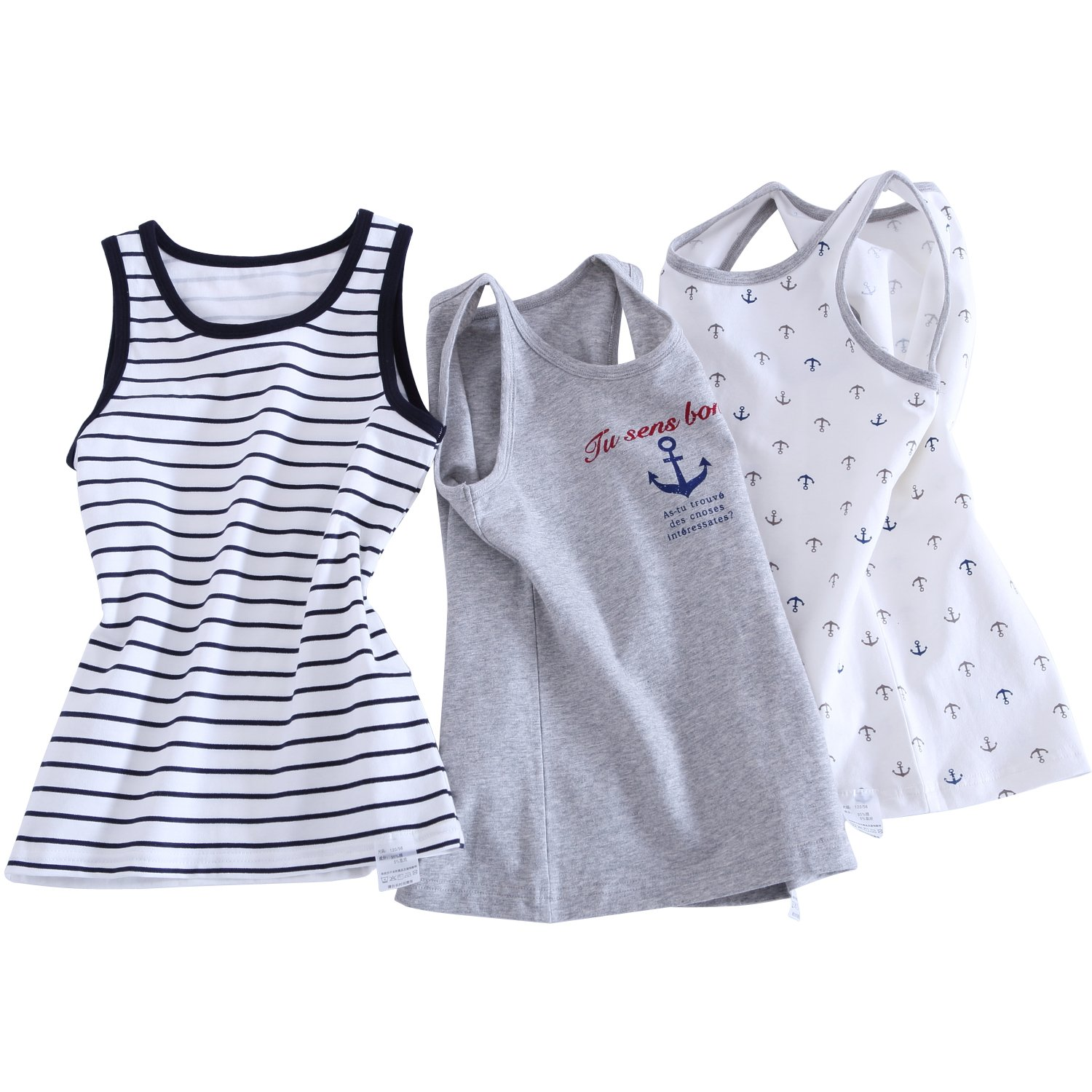 Tank Top for Baby Boys 3 Piece Pack Muscle T-shirt (5T)