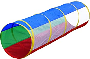 Hide N Side 6ft Crawl Through Play Tunnel Toy, Pop up Tunnel for Kids Toddlers Dogs Babies Infants & Children Gift Indoor & Outdoor Action Toy Tunnel
