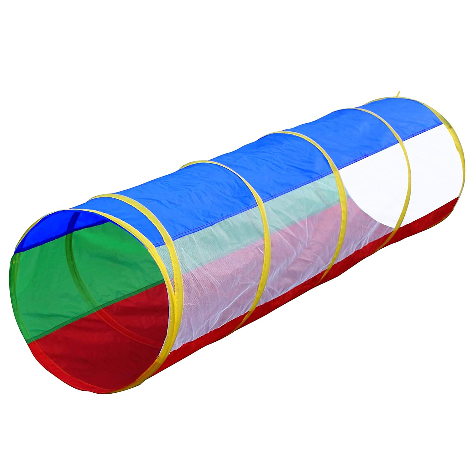 Hide N Side Kids 6ft Crawl Through Play Tunnel Toy, Pop up Tunnel for Kids Toddlers Babies Infants & Children Gift Indoor & Outdoor Tube Hide-n-Side