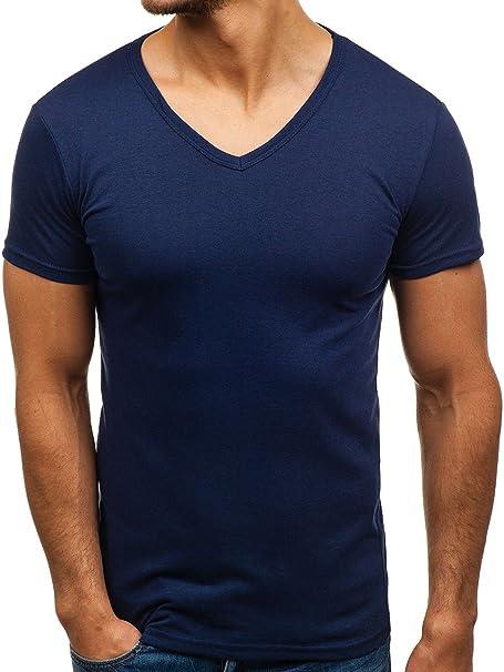 BOLF Herren T-Shirt Tee Kurzarm BLACK ROCK 1002 Dunkelblau M [3C3]