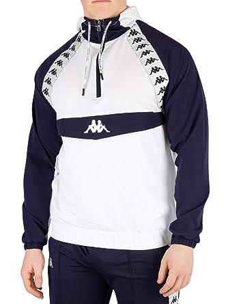 Kappa Homme Bakit Authentic Jacket, Blanc, S: