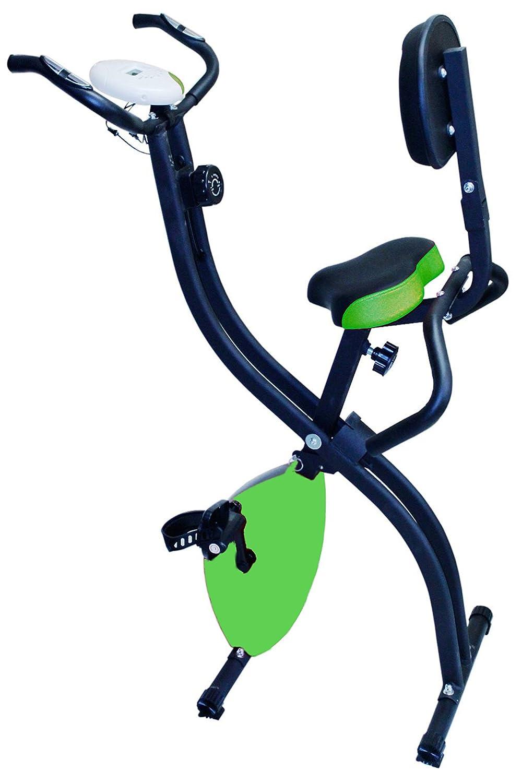 Kemket Folding Magnetic Exercise Bike X-Bike Fitness Cardio Workout Weight Loss Machine