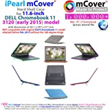 "iPearl mCover Hard Shell Case for 11.6"" Dell Chromebook 11 3120 series released after Feb. 2015 with 180 degree LCD hinge (NOT compatible with Dell C11 210-ACDU , 3180, 3189 series) (Green)"