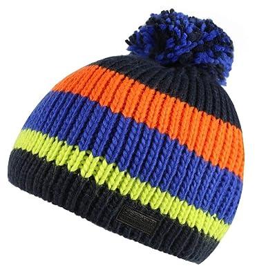 eb9dc0b46 Regatta Mens Davion Beanie Hat (One Size) (Navy/Multicolour): Amazon ...