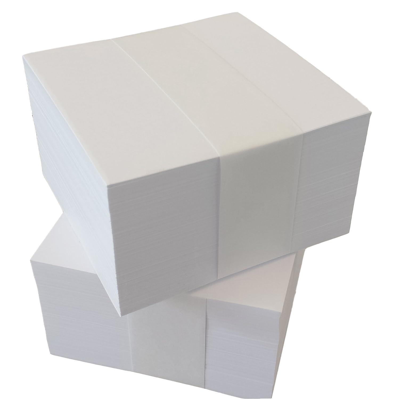 Bloc de notas 10x 10cm unbedruckte lose hojas para notas Cajas de Set de relleno (22500) Druckerei Scharlau