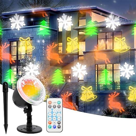 SHINEELI Luces de proyector de Navidad con Control Remoto, luz de ...