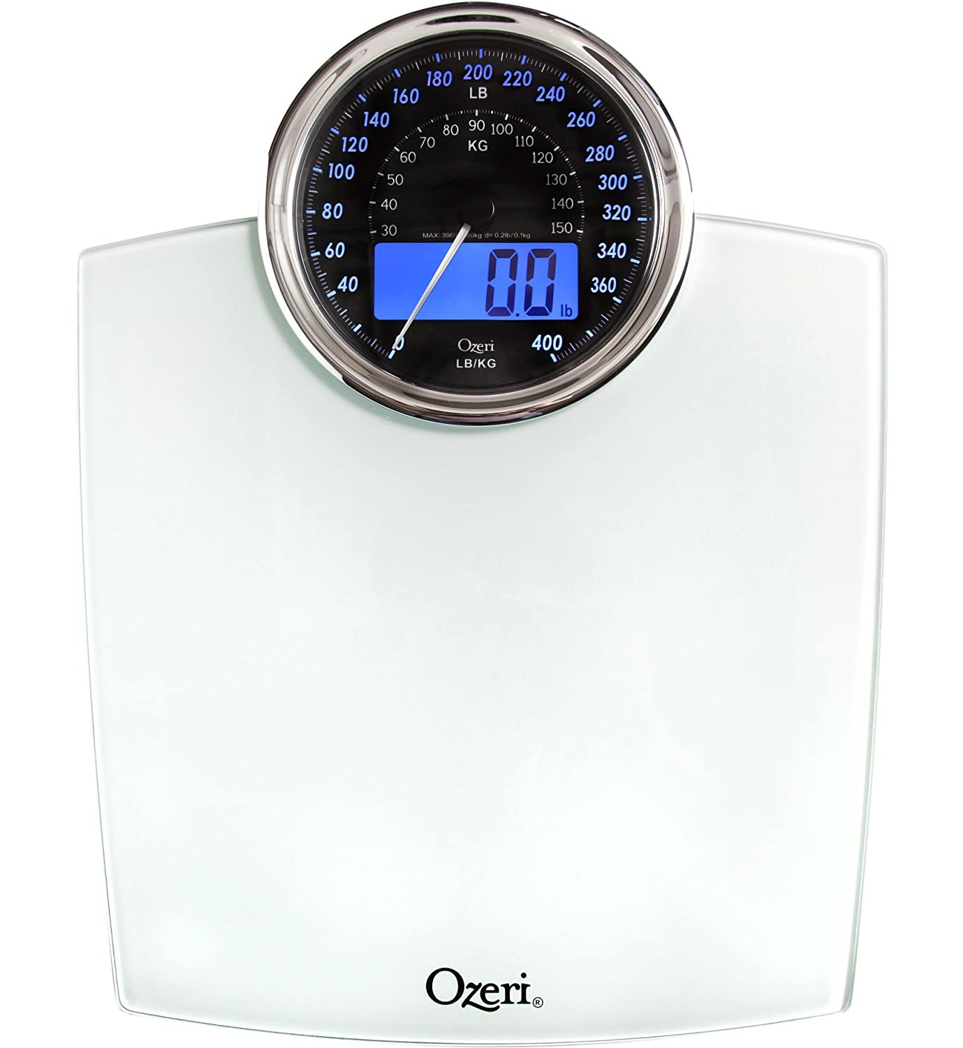 Amazon scale bathroom - Amazon Com Ozeri Zb19 W Rev Digital Bathroom Scale With Electro Mechanical Weight Dial White Health Personal Care