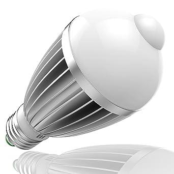 7W E27 LED Glühbirne Glühlampe Lichtsensor mit PIR Bewegungsmelder AC85-265V