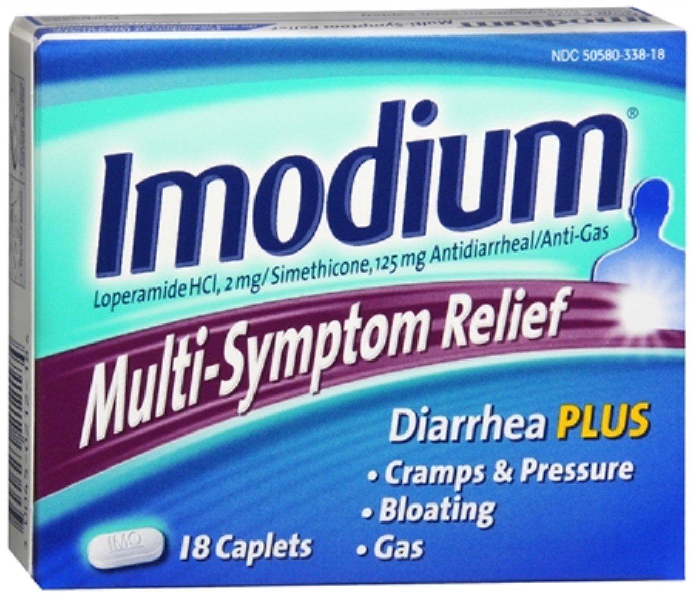 Imodium Multi-Symptom Relief Caplets 18 Caplets (10 Pack)