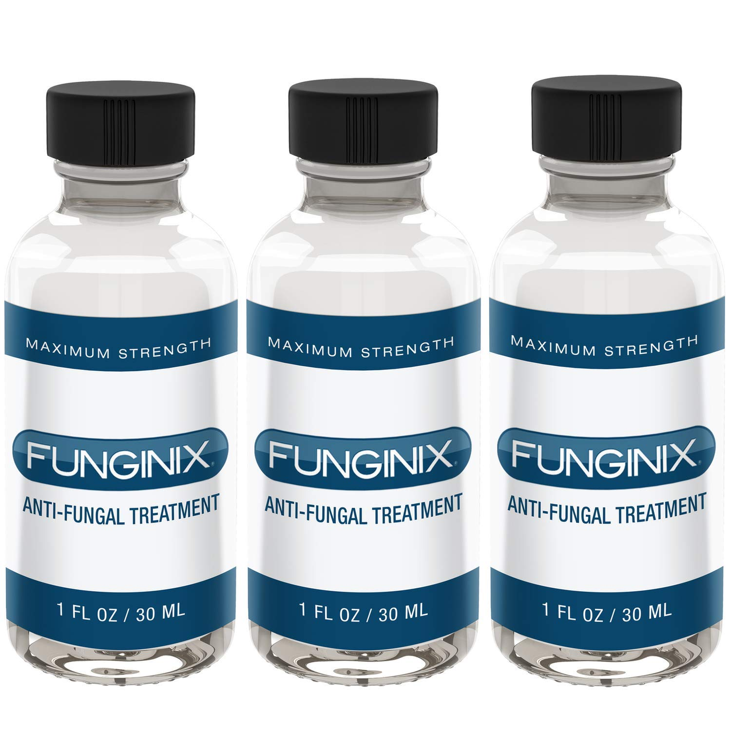 FUNGINIX Finger and Toe Fungus Treatment - Maximum Strength Anti-Fungal Solution, Eliminate Fungal Infections, Powerful & Effective (3 Bottles) by FUNGINIX