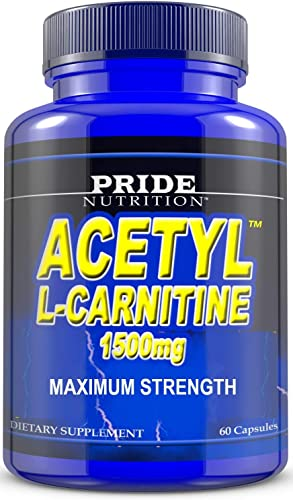 Acetyl L-Carnitine 1,500 mg High Potency Supports Natural Energy Production, Supports Memory Focus - 60 Easy to Swallow Capsules