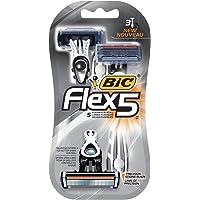 3-Count BIC Flex 5 Disposable Razor for Men
