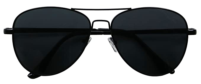 81d7db98f0 Image Unavailable. Image not available for. Color  Basik Eyewear - Classic  All Black Pilot ...