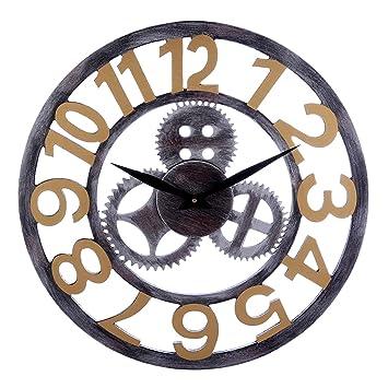 YAHAMA Reloj Pared XXL Vintage Reloj Pared Vintage 40 cm Reloj Pared Silencioso Vintage: Amazon.es: Hogar