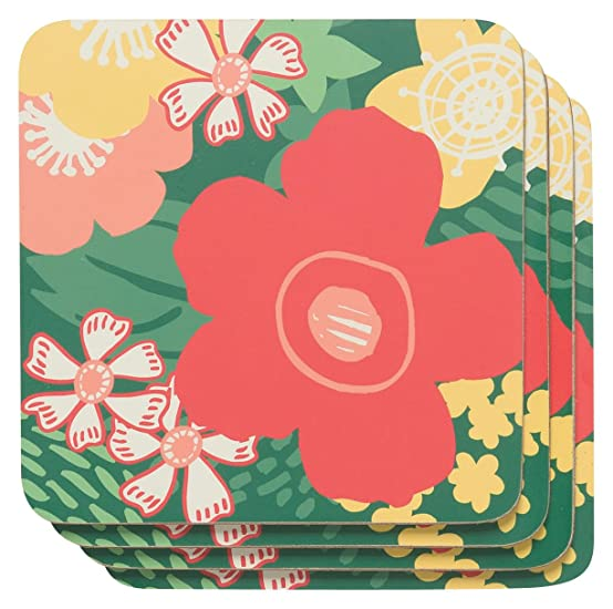 Amazon.com: Now Designs Cork Backed Coasters, Valencia, Set of 4: Home & Kitchen