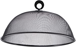 Yardwe Kitchen Food Cover Plate Dish Net Mesh Screen Tent Round Style Flies Proof Food Preservation Cover for Home Restaurant Black