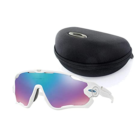 Oakley Jawbreaker Prizm >> Oakley Jawbreaker Sunglasses Polished White Frame Prizm Iridium Lens With Jawbreaker Soft Array Case Black