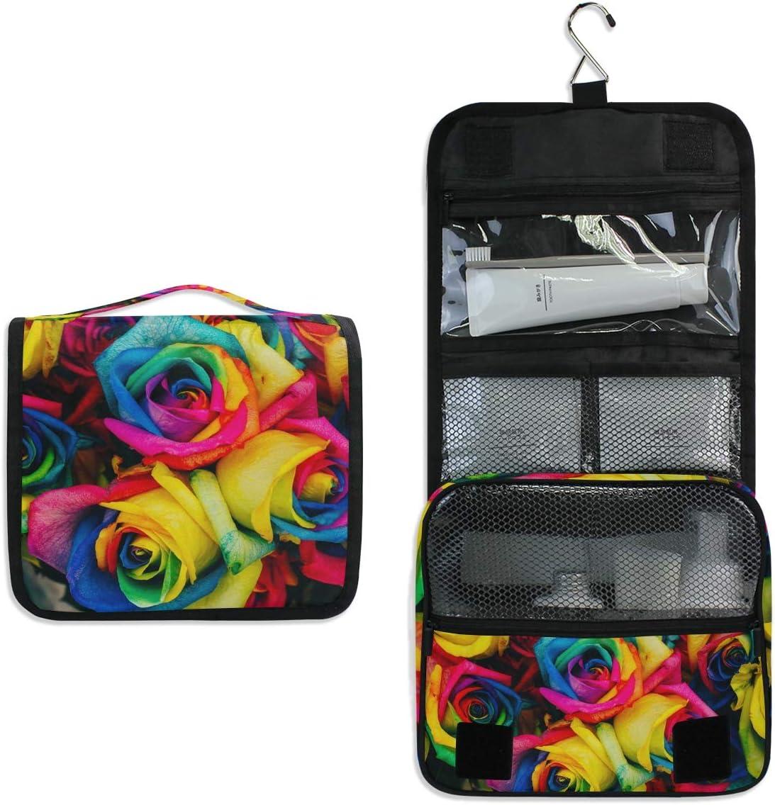 CPYang - Neceser portátil con diseño de Rosas y arcoíris para Mujer y Hombre: Amazon.es: Equipaje