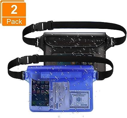 BHGWR 2 Pack Bolsas Agua con Cintura Ajustable, Impermeable ...