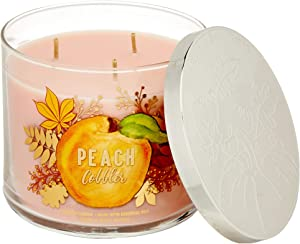 Bath and Body Works Peach Cobbler 3-Wick Candle 14.5 oz / 411 g