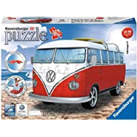 Ravensburger- VW Bus T1 Campervan Puzzle, Color Blanco/Rojo