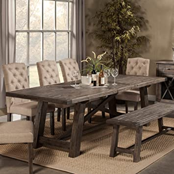 Amazoncom Alpine Newberry Extension Dining Table Tables