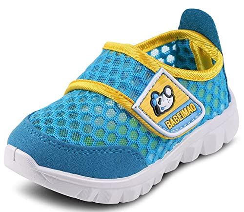 c984fb843a1c25 DADAWEN Baby s Boy s Girl s Breathable Strap Light Weight Casual Sneakers  Running Shoes Blue US Size 5.5 M Toddler  Amazon.co.uk  Shoes   Bags