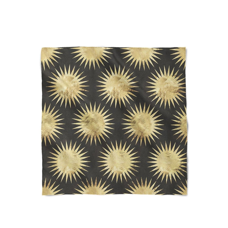 Leaf Gold Starburst Satin Style Scarf