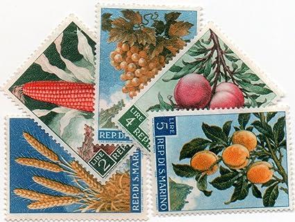 Amazon San Marino Postage Stamp Set Of 5 Stamps 1958 Scott S