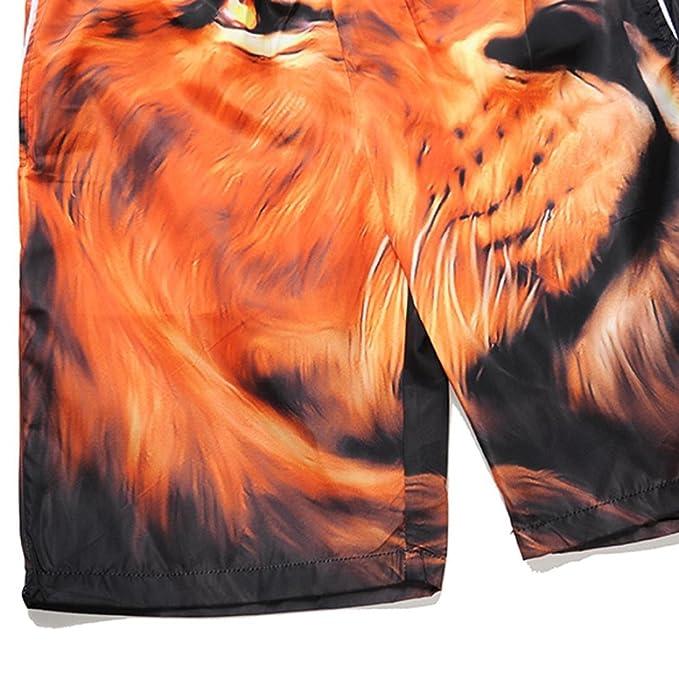 59228e148334 Amazon.com: Men's Summer Lion Print Cargo Swim Trunk Board Shorts Swim Surf  Trunks (Size:L): Sports & Outdoors