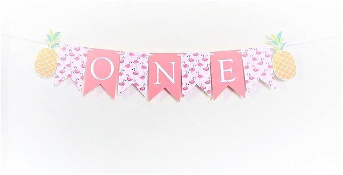 flamingo pineapple garland banner 1st birthday party ideas summer birthday girl baby shower